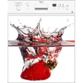 Sticker pour Lave Vaisselle Fraise splatch