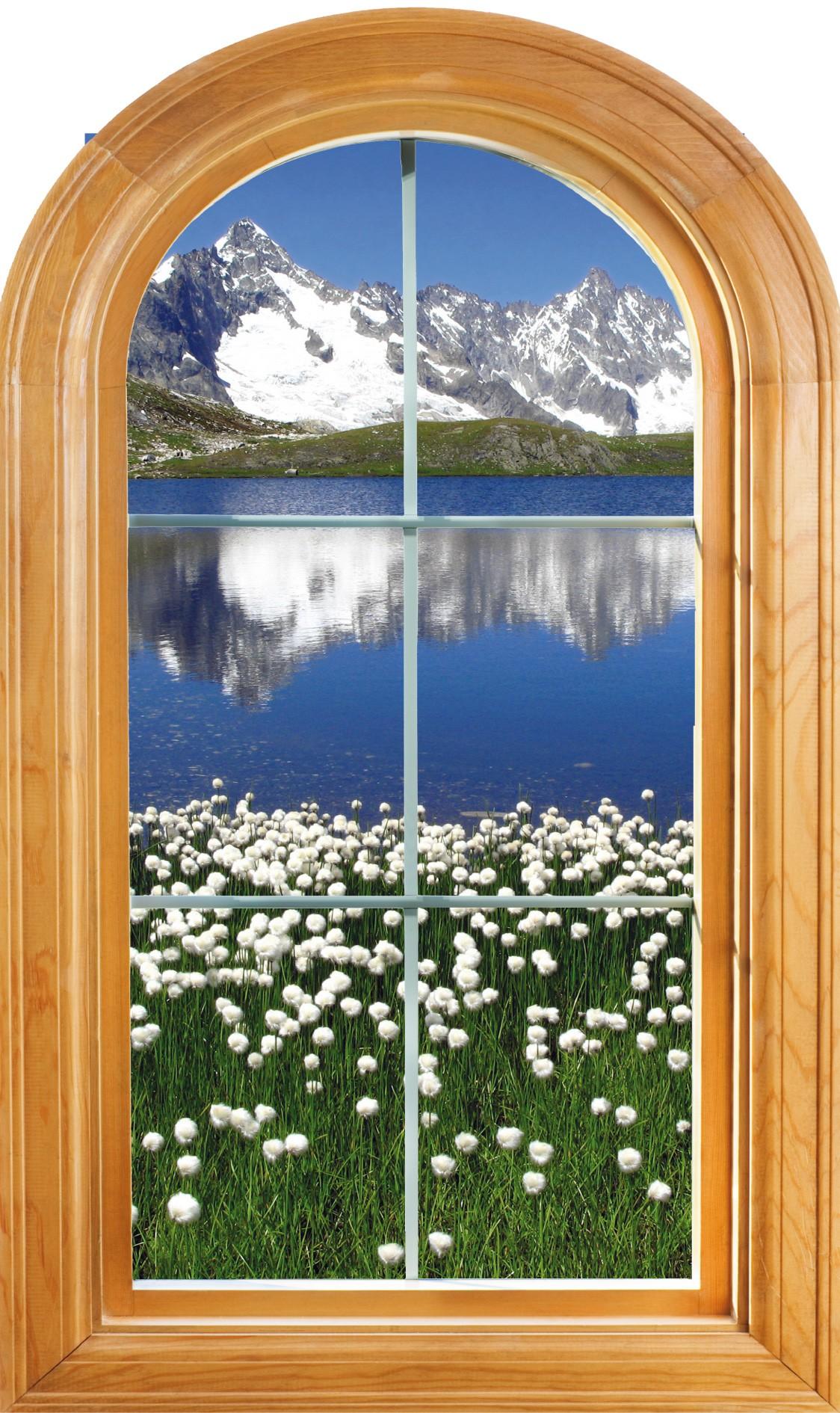 Sticker fenêtre trompe l/'oeil Lac réf 224