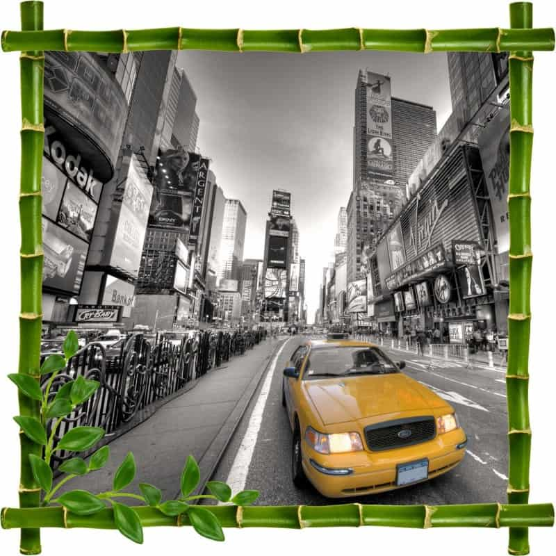Stickers muraux trompe l 39 oeil new york stickers d co pas cher - Deco trompe l oeil mural ...
