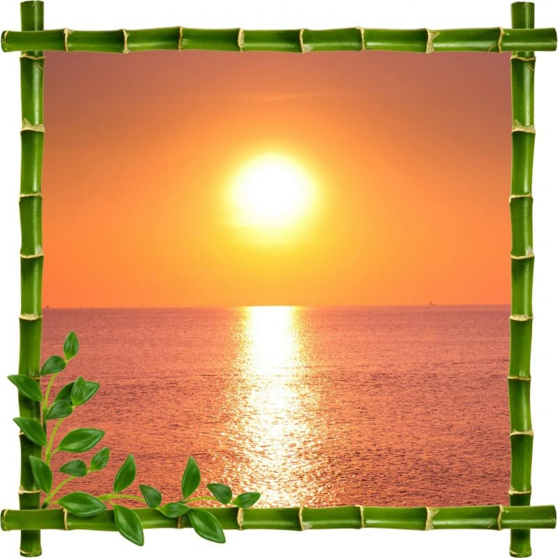 Stickers muraux trompe l 39 oeil couch de soleil stickers - Deco trompe l oeil mural ...