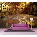 Sticker mural géant Tags Graphiti 2,6 x3,6 m