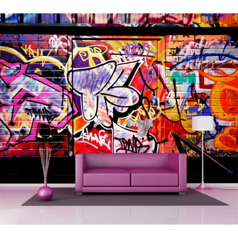 sticker mural g ant tag graphiti 2 6 x3 6 m art d co stickers. Black Bedroom Furniture Sets. Home Design Ideas