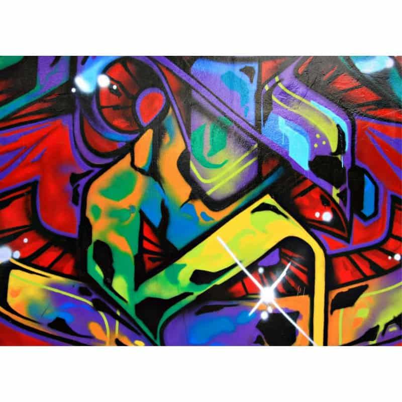sticker mural g ant graphitis tag 2 6 x3 6 m art d co. Black Bedroom Furniture Sets. Home Design Ideas