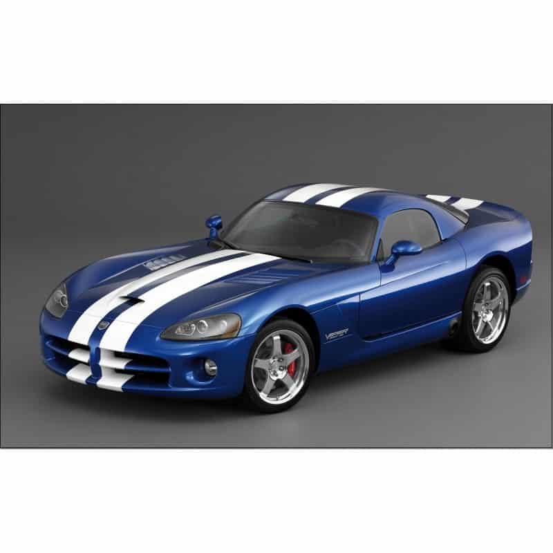 sticker autocollant voiture d co murale viper bleu art d co stickers. Black Bedroom Furniture Sets. Home Design Ideas