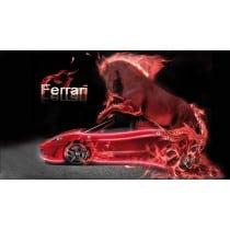Sticker autocollant Voiture déco murale Cheval Ferrari