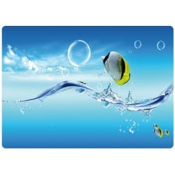 Sticker pc ordinateur portable poissons