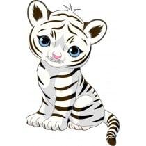 Sticker enfant décoration murale Tigre Tigrou