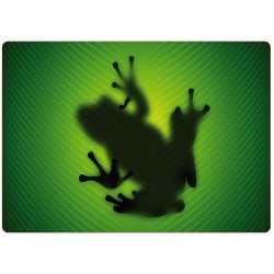 Sticker pc ordinateur portable ombre grenouille