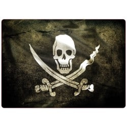 Sticker pc ordinateur portable Pirate