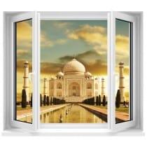 Sticker Fenêtre Temple Taj Mahal