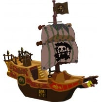 sticker Autocollant Bateau pirate