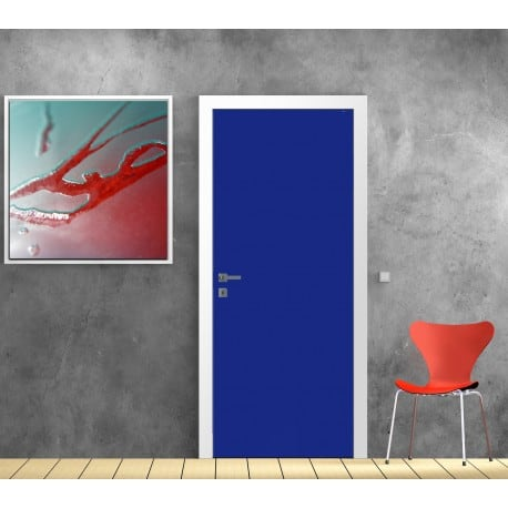 sticker pour porte d co couleur bleu fonc art d co stickers. Black Bedroom Furniture Sets. Home Design Ideas