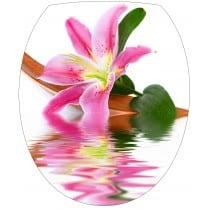 Sticker WC, sticker pour abattant de WC Fleur