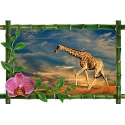 Sticker Bambou déco girafe