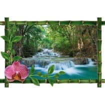 Sticker Bambou déco longue cascade