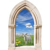Sticker mural déco agneau