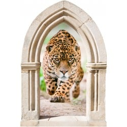 Sticker mural déco léopard