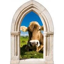 Sticker mural déco vache
