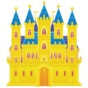 stickers muraux Autocollant enfant Château