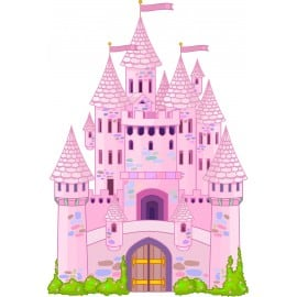 sticker enfant Chateau Princesse