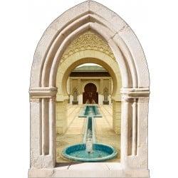 Sticker mural déco fontaine