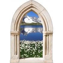 Sticker mural déco lac montagne