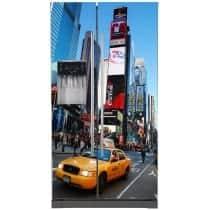 Sticker frigo américain déco cuisine New York Taxi