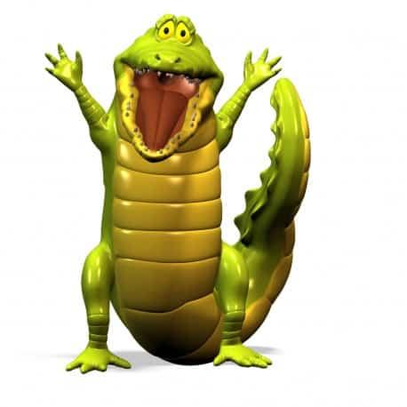 sticker Autocollant Crocodile