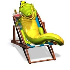 sticker Autocollant enfant Crocodile Marrant