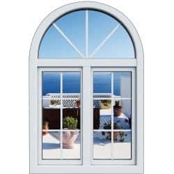 Sticker Fenêtre trompe l'oeil Balcon