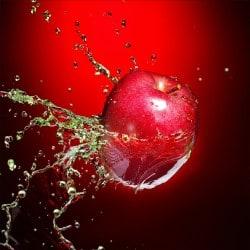 Stickers muraux déco : pomme rouge