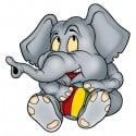 sticker Autocollant enfant Elephanteau gris