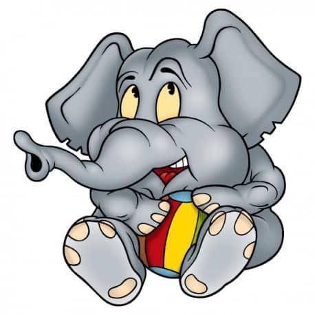 sticker Autocollant Elephanteau gris