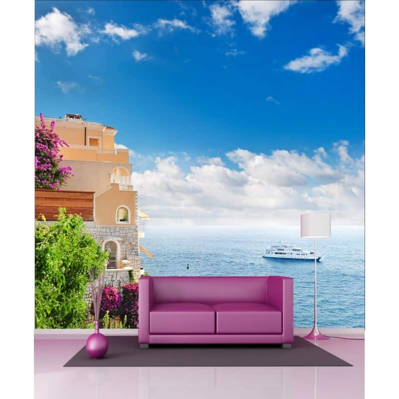 stickers g ant d co maison vue sur mer art d co stickers. Black Bedroom Furniture Sets. Home Design Ideas