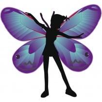 sticker Autocollant enfant Fée Papillon