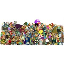 sticker Autocollant enfant futurama-cast