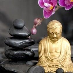 Stickers muraux déco : galets Bouddha