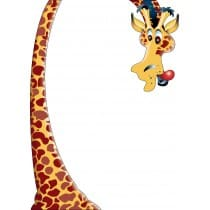 sticker Autocollant Girafe