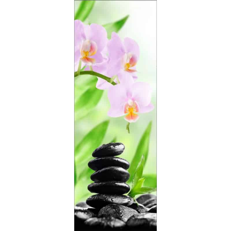 Stickers porte galets orchid e art d co stickers for Poster de porte zen