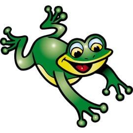 sticker Autocollant enfant grenouille