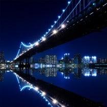 Stickers muraux déco : pont de New York la nuit