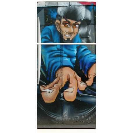 Sticker frigo déco Grafitti Tag 70x170cm