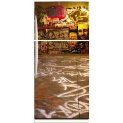 Sticker frigo déco Tag Grafitti 70x170cm