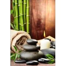 Stickers muraux déco :galets bambous