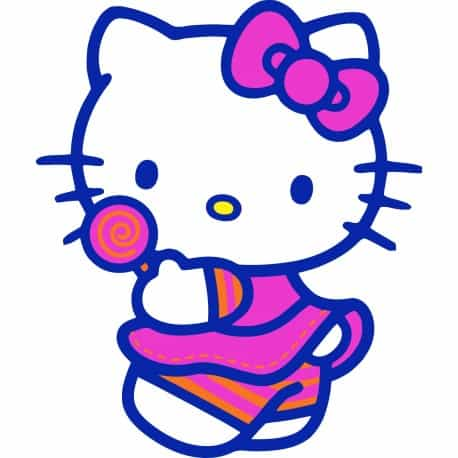 sticker Autocollant hello Kitty