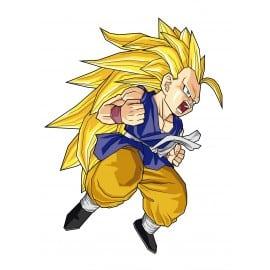 sticker Autocollant enfant manga Goku-GT-SS3