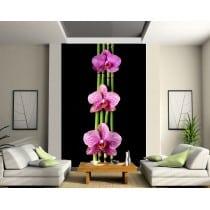 Stickers géant déco : Orchidée Bambous