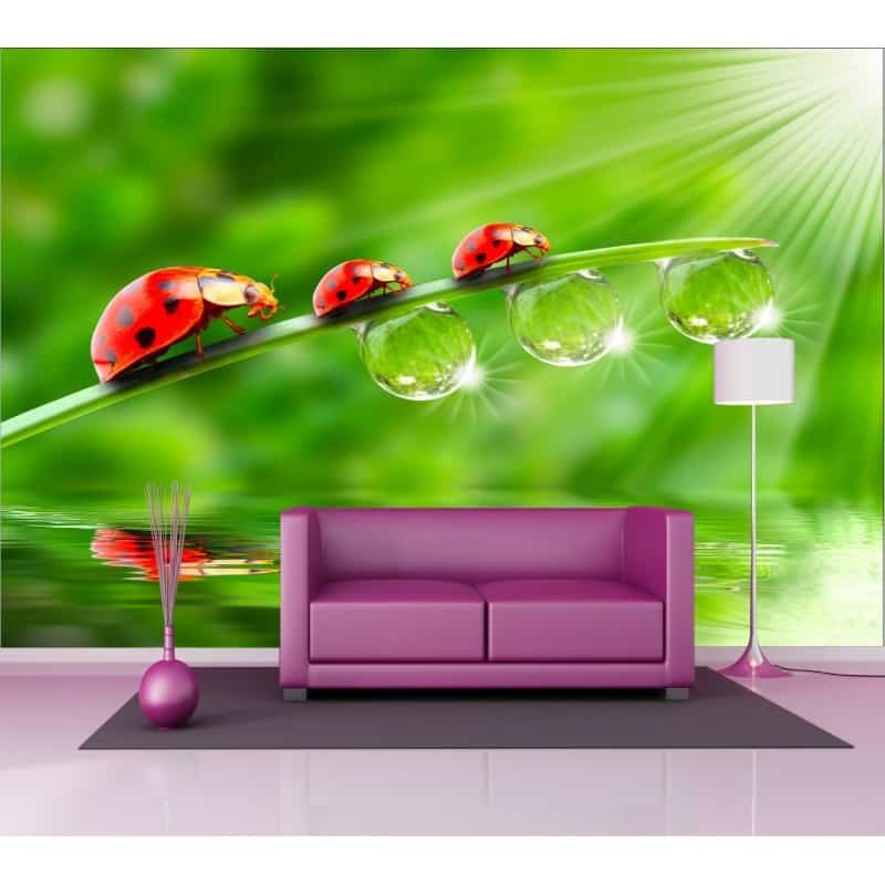 Stickers g ant d co coccinelles art d co stickers - Sticker mural geant ...