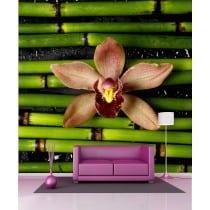 Stickers géant déco : Fleur Bambous