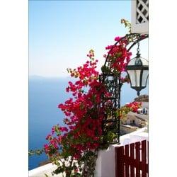 Stickers muraux déco : balcon vue sur la mer